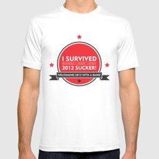 I SURVIVED 2012 SUCKER Mens Fitted Tee MEDIUM White