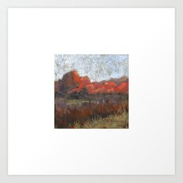 View from Main Parking, Garden of the Gods Art Print