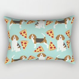 beagle pizza dog lover pet gifts cute beagles pure breeds Rectangular Pillow