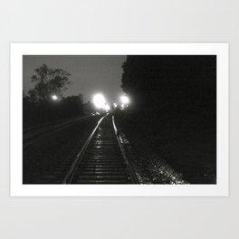 Them Tracks Art Print