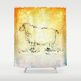 Draw me a sheep Shower Curtain