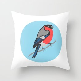 Bull Finch  Throw Pillow