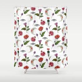 Poppy, Datura, thistle Shower Curtain
