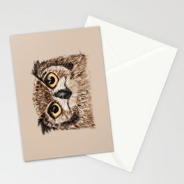 Disapproving Owl Stationery Cards