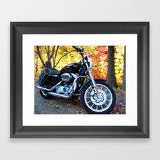Sportster in Fall Framed Art Print