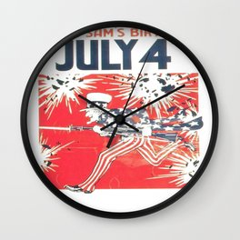 4th of July - Uncle Sam Wall Clock