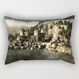 Lake castle Rectangular Pillow