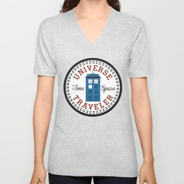 Doctor Who Converse Time Traveller Unisex V-Neck