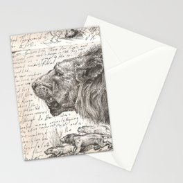 Lion(s) Sketch from Life Stationery Cards