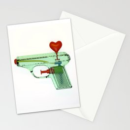 squirtgun love Stationery Cards