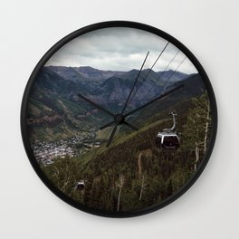 Telluride gondolas Wall Clock