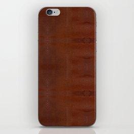 Burnt Orange Leather iPhone Skin
