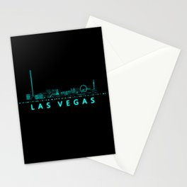 Digital Cityscape: Las Vegas, Nevada Stationery Cards