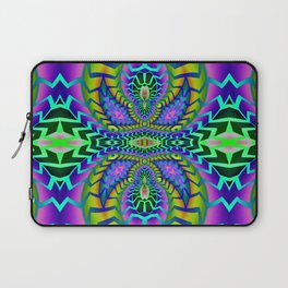Tribal Rainbow Lotus Laptop Sleeve