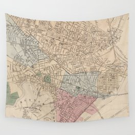 Vintage Map of Cambridge Massachusetts (1891) Wall Tapestry
