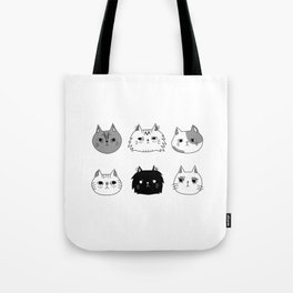 Unfriendly Cats Tote Bag