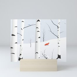 Birches West Mini Art Print