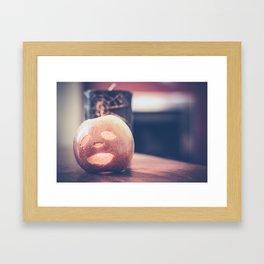 Spooky Apple Framed Art Print