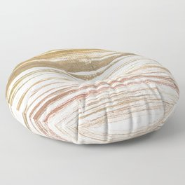 Light taupe abstract watercolor Floor Pillow