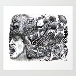 Unhinge  Art Print