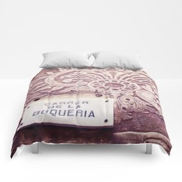 Carrer de la Boqueria Color Comforters