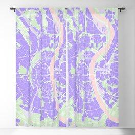 Cologne map violet Blackout Curtain