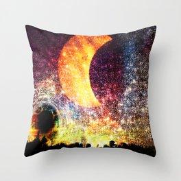 Surreal celestial landscape Throw Pillow