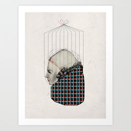Pattern Girl Art Print