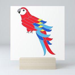 Whimsy scarlet macaw Mini Art Print