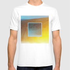 The Air In Here Is Not So Different From Before MEDIUM Mens Fitted Tee White