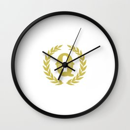 Mustard Yellow Monogram: Letter Q Wall Clock