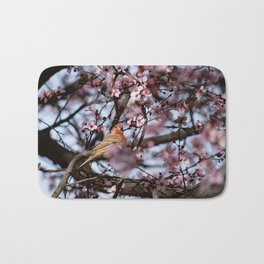 Spring Blossoms - Male House Finch Bath Mat