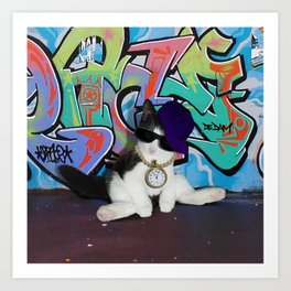 Cat Attitude.....Kitten and Graffiti Wall Art Print