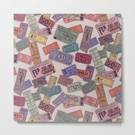 Vintage Tickets Metal Print
