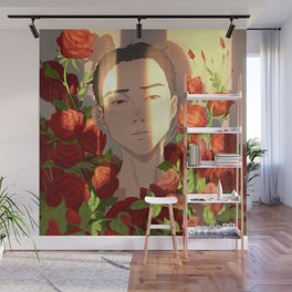 Surrounded by Roses Wall Mural
