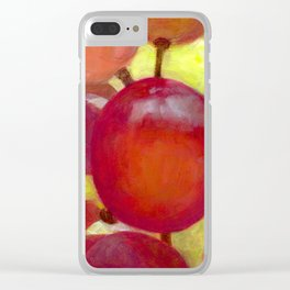 Grapes #14 Clear iPhone Case