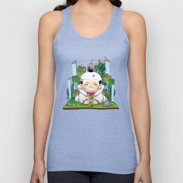 Fukusuke and the magic forest Unisex Tank Top