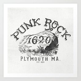 Punk Rock Plymouth Ma. Art Print