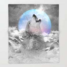 Maybe the Wolf Is In Love with the Moon Throw Blanket