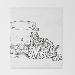 Thirsty Grouse Throw Blanket