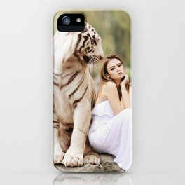 White Tiger from Bengal | Tigre blanc du Bengale iPhone Case