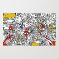 mondrian Area & Throw Rugs featuring Berlin mondrian by Mondrian Maps