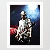 u2 Art Prints featuring U2 / Adam Clayton by JR van Kampen