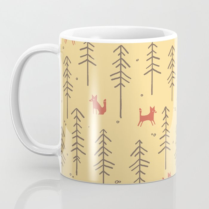 Fox hiding in the forest Coffee Mug