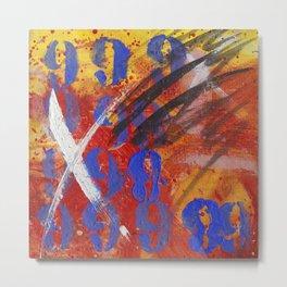 9999 paint Metal Print