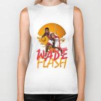 nba Biker Tanks featuring NBA Legends: Dwyane Wade by Akyanyme