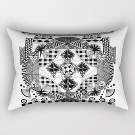 symmetry and a little bit of assymetry Rectangular Pillow