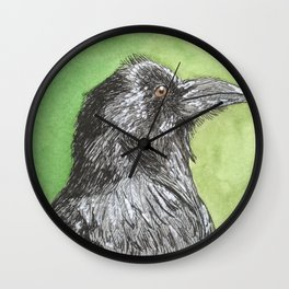 Majestic Raven Wall Clock