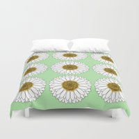 daisy Duvet Covers featuring Daisy by Lorelei Douglas