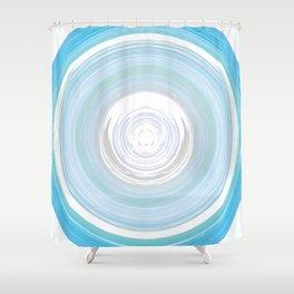 Ebb and Flow - Aqua Shower Curtain